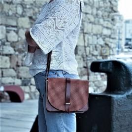 Τσάντα ώμου ''Mineral'' γνήσιο δέρμα