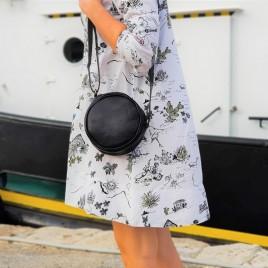 Γυναικεία Δερμάτινη Στρογγυλή Τσάντα ''Globe''