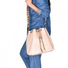 Τσάντα ώμου ''Equator'' γνήσιο δέρμα