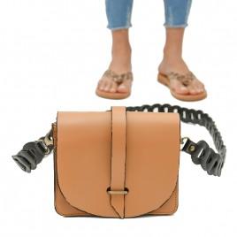Γυναικεία Δερμάτινη Τσάντα ''Gravel''