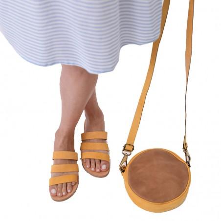 Τσάντα μέσης ''Full Moon''  γνήσιο δέρμα